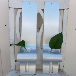 Other - Metal wall sconces with glass vases
